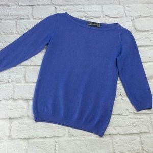 Zara Women's Size Med Blue Sweater